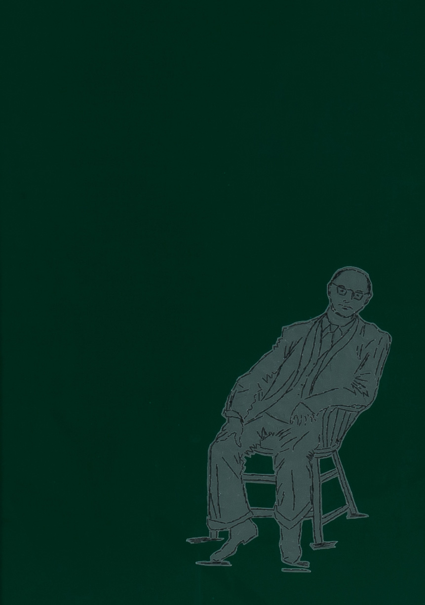 Painting by Eliza Kentridge, Mr B, Thread, paper and cloth, 530mm x 106mm, 2010