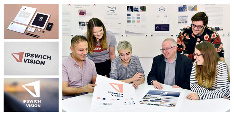 Ipswich Vision branding and student presentation