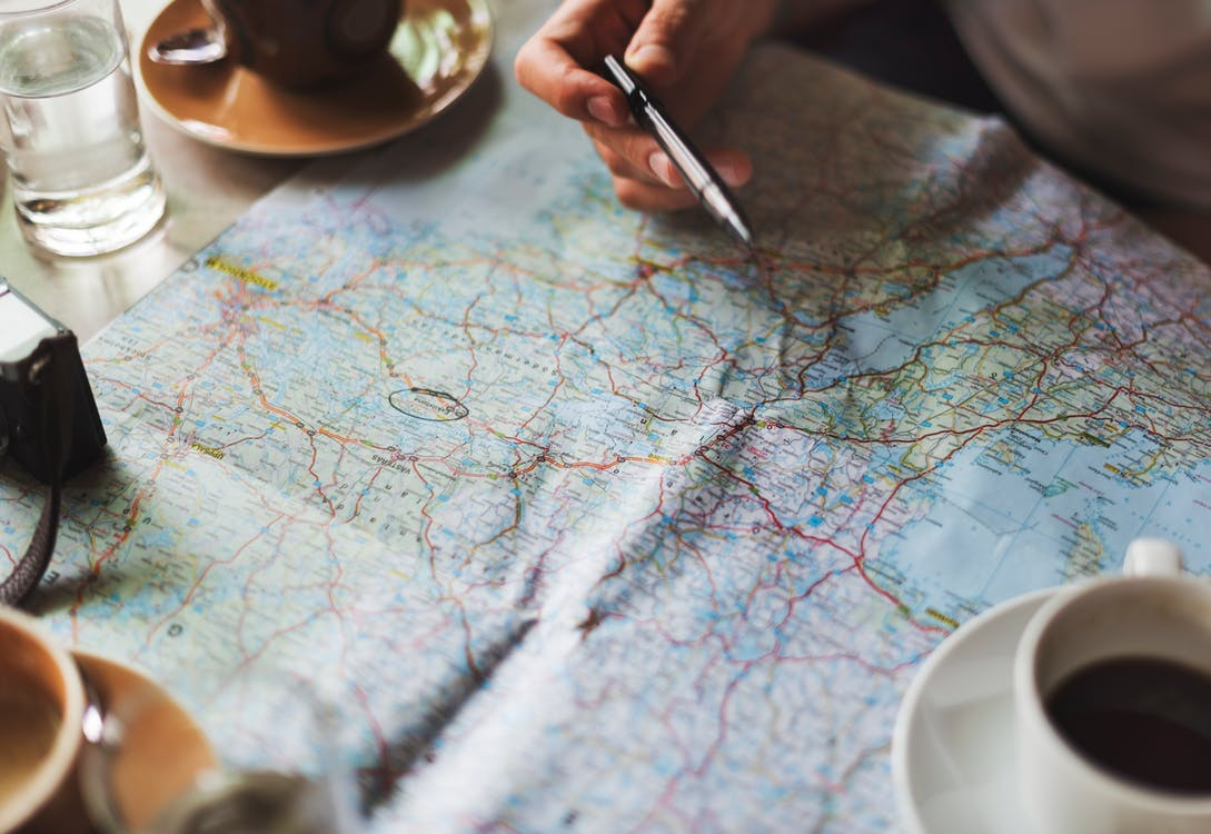 Maps and coffee