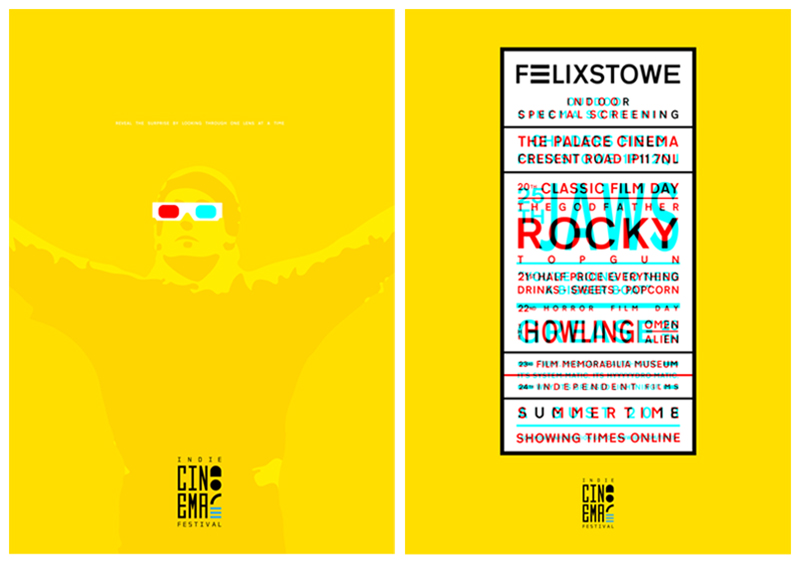 Indie Cinema Festival Posters by Marcus Roth