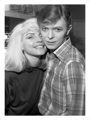 Photograph of Debbie Harry and David Bowie, photograph by Chris Stein