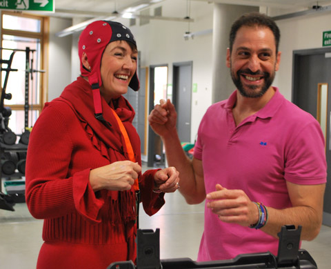 Jo Churchill visit 11 November with the Ant Neuro portable EEG 1
