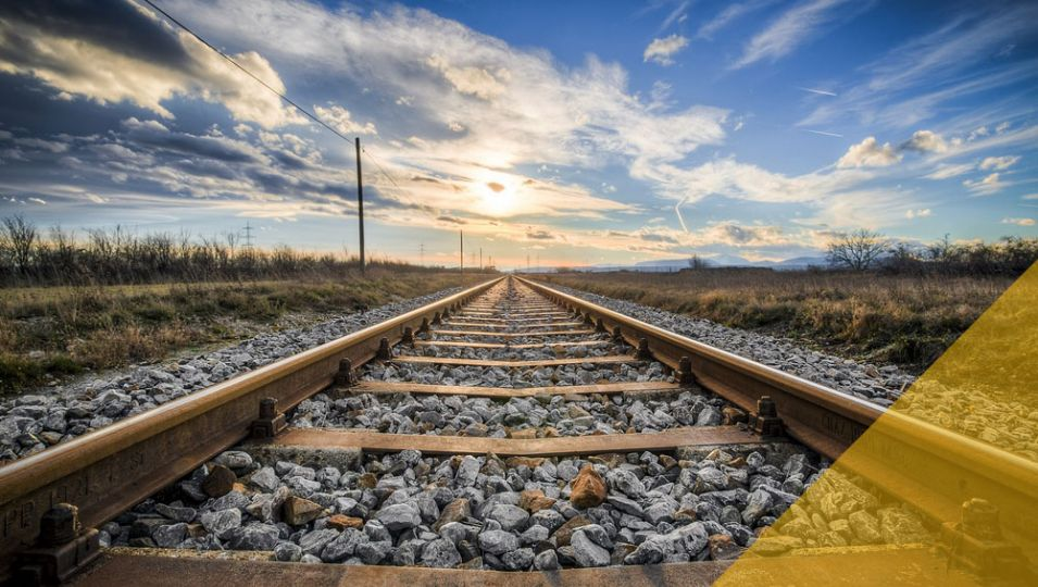 Railway tracks in the countryside