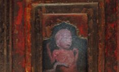 Robert Priseman, Title, 28 Weeks, oil on board, 5 x 4cm, 2012