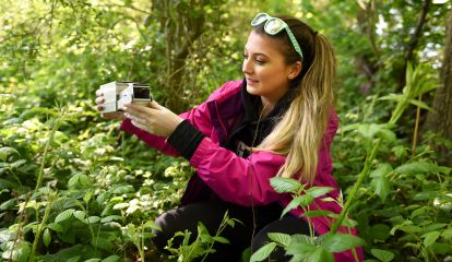 Wildlife student on a field trip