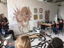 Year 2 critique in the studio