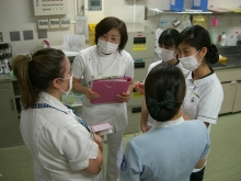 Training at the hospital. Credit Keio University (1).JPG