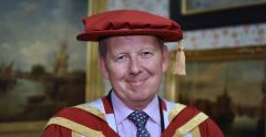 BBC Breakfast anchor and Strictly contestant Bill Turnbull - honorary doctorate at the University of Suffolk.