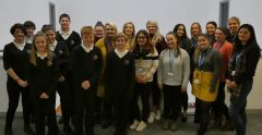 Claydon High School and University of Suffolk child health nursing students