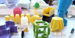 Examples of materials printed by the 3D printer