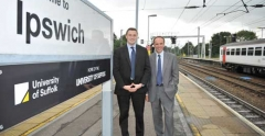 Paul Oxley and Richard Lister at Ipswich Railway Station
