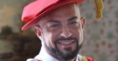 Strictly Come Dancing professional Robin Windsor - honorary doctorate at the University of Suffolk.
