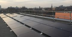 Solar panels on the Atrium roof- University of Suffolk