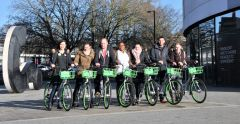 Students and Urbo bikes Jade Giddens