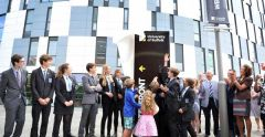 Suffolk young people unveil campus signage