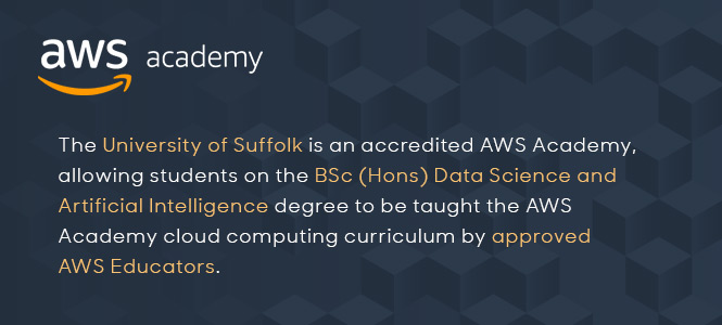 The University of Suffolk is an AWS Academy
