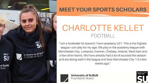 Charlotte kellet - sports Scholar