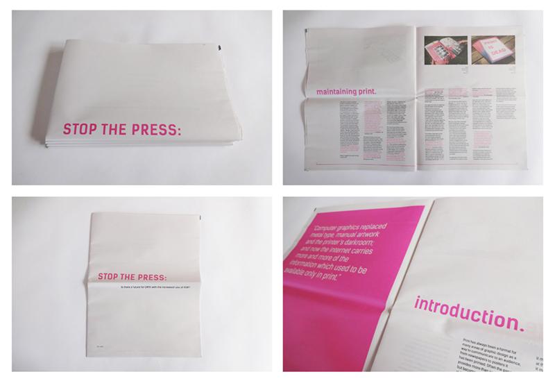 Newspaper dissertation by Dan Drake