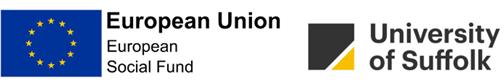 European Union European Social Fund and University of Suffolk logos