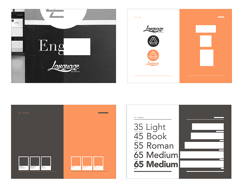 Language Appreciation Society brand guidelines by Greg Daniels