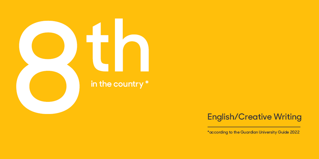 English ranked 8th in the country in the Guardian University Guide 2022
