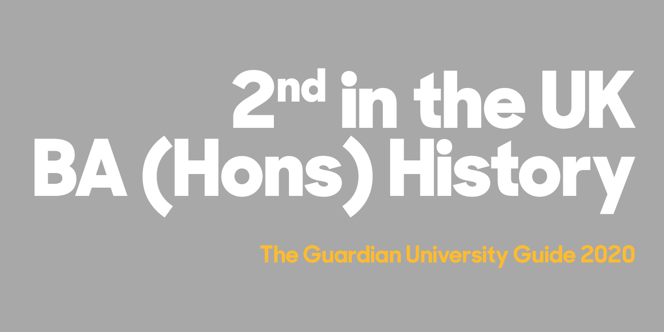 Guardian University Guide History Course Page Banner