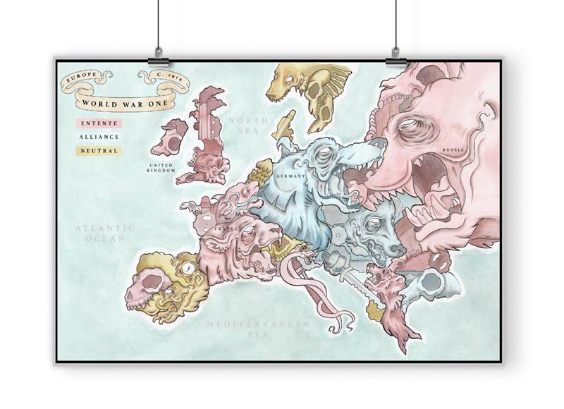 Jakob Todd World War 1 map