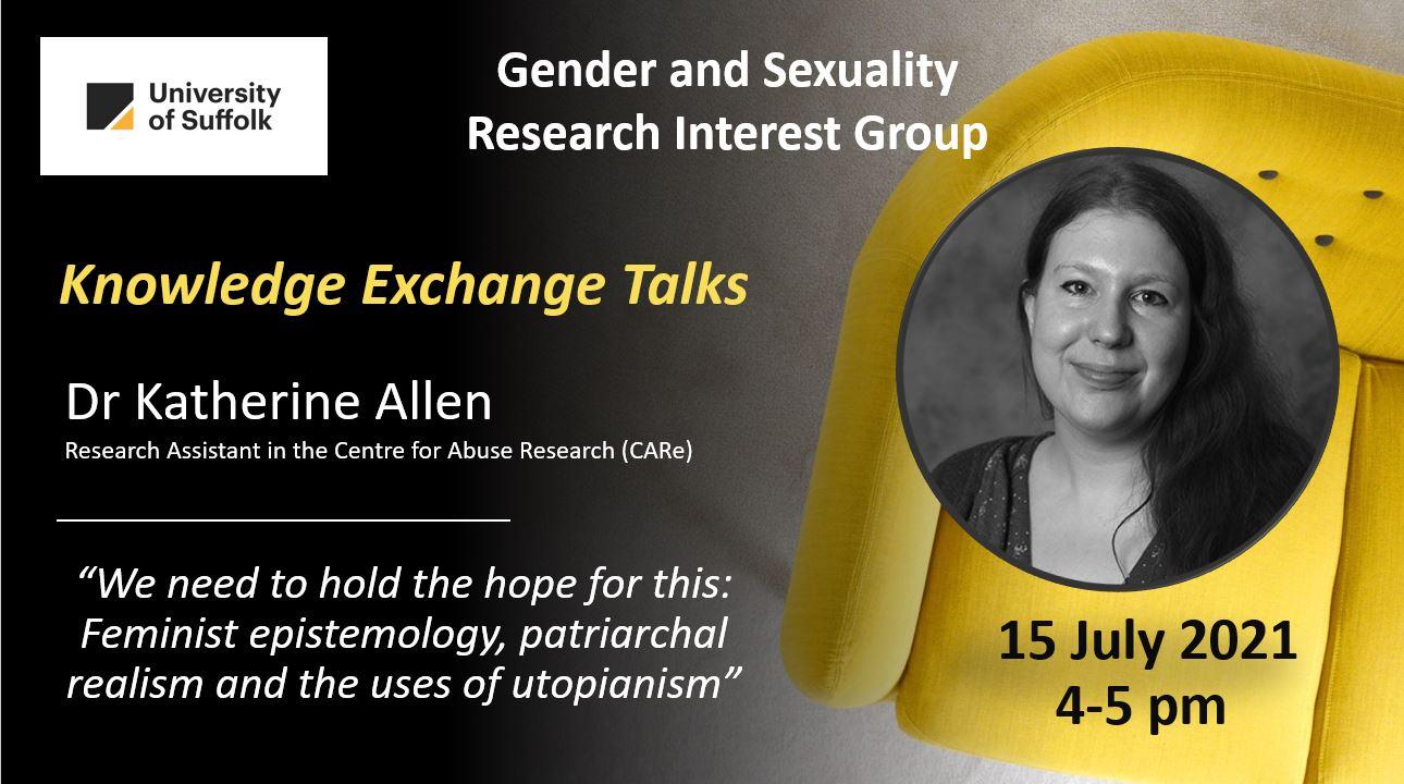 Knowledge Exchange  Dr Katherine Allen