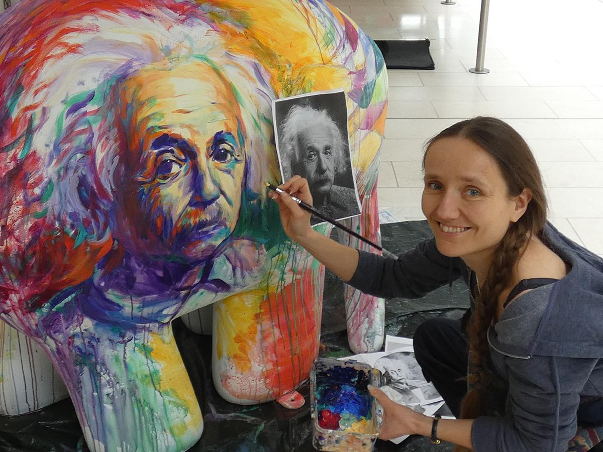 Lois painting Elmer (1) WEBSITE