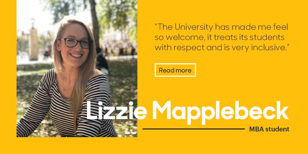 Lizzie Mapplebeck, MBA Student