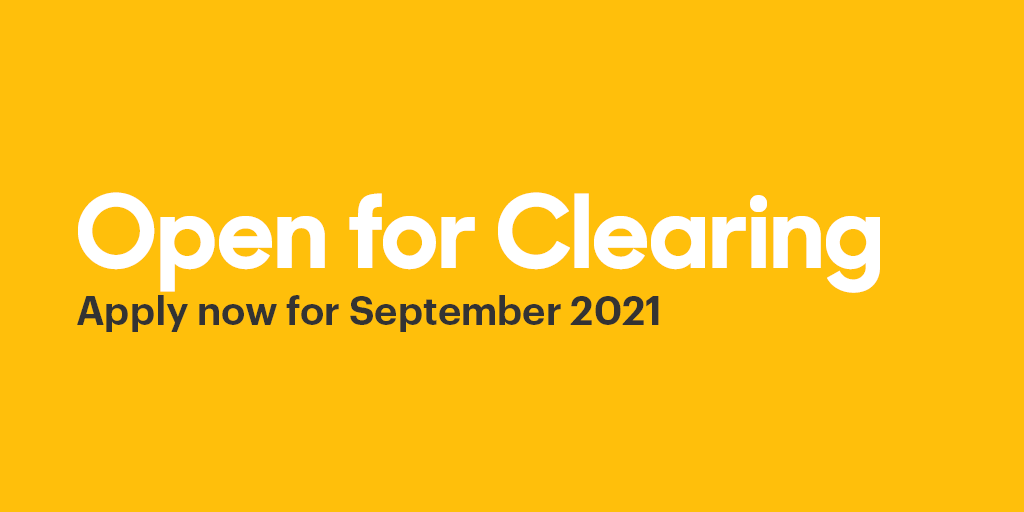 Course open to apply for in Clearing 2021