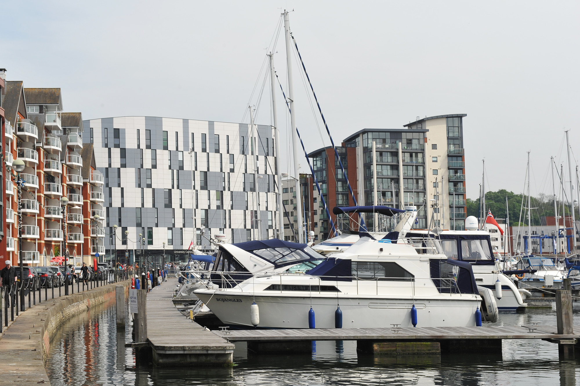 Photograph of boats, Waterfront Building, University of Suffolk