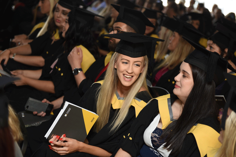 University of Suffolk students at their graduation ceremony