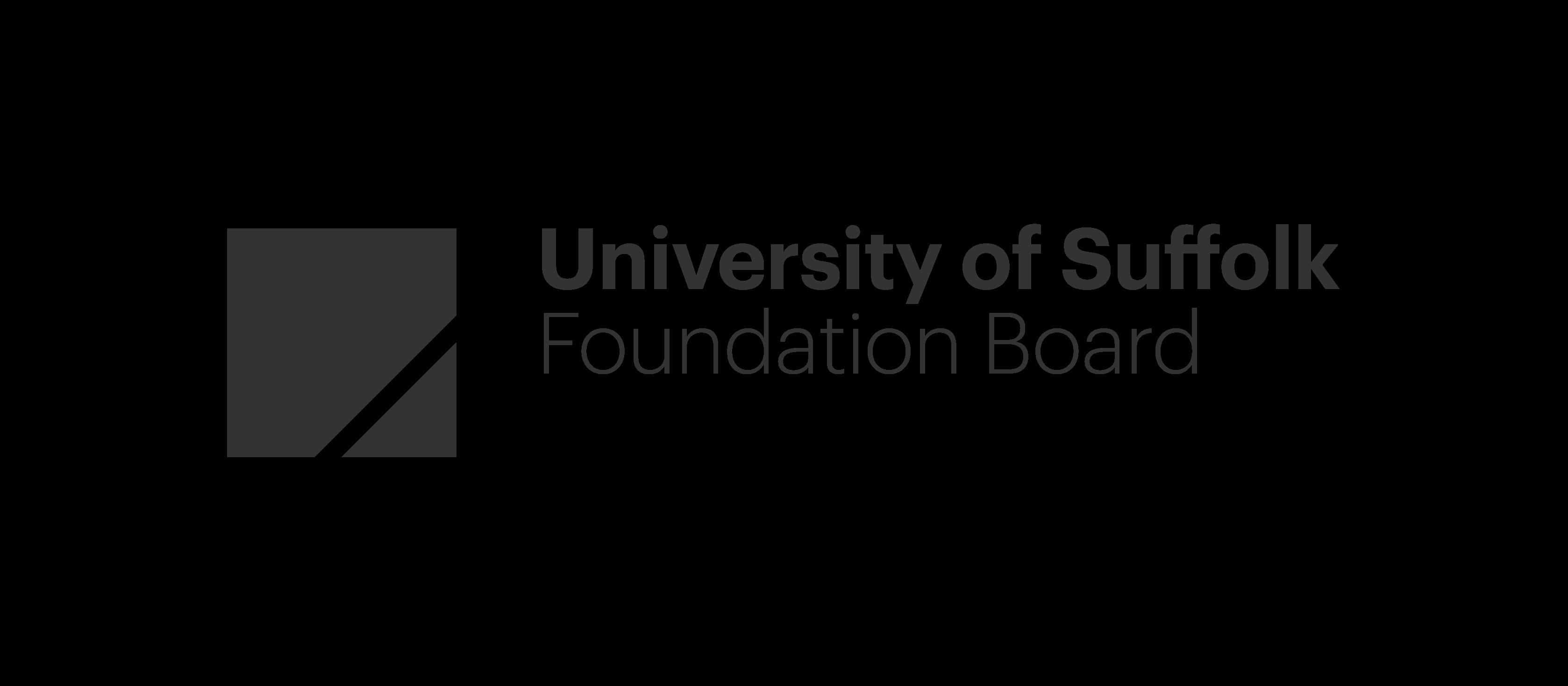 University-of-Suffolk SB Logo Foundation-Board RGB Mono-01