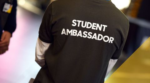 Student Ambassador working an event