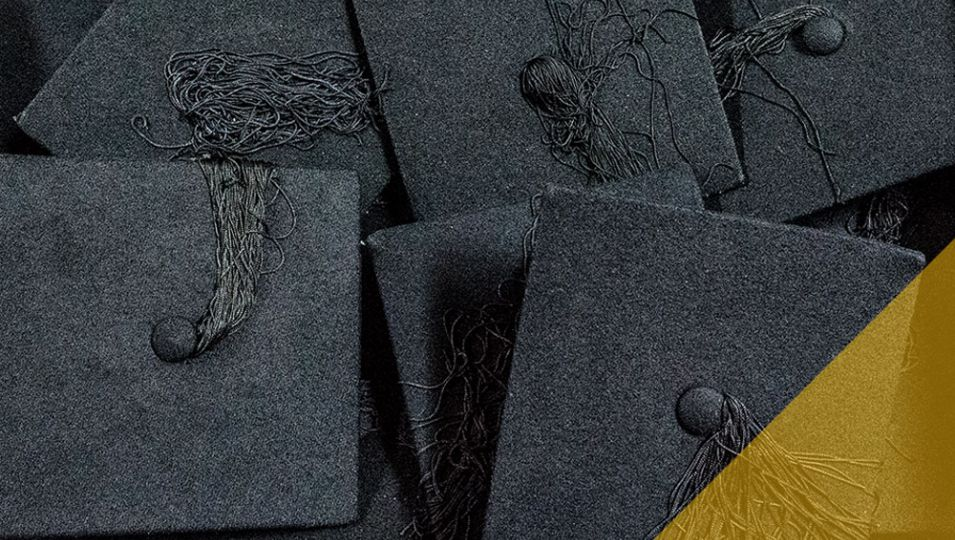 Graduation mortarboards