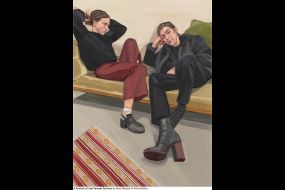 A Portrait of two Female Painters by Ania Hobson 0