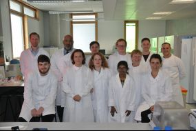 Academics working at the Biotechnology Unit with the MSc Regenerative Medicine students