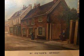 Painting of St Peters Street. By William John Leggett (1856-1936)