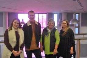Students and Heather Passmore