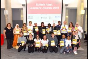 Suffolk Adult Learners Awards 2019 Winners and Runners Up University of Suffolk