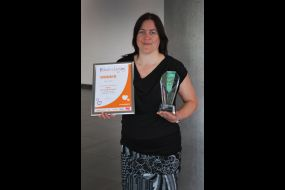 Terrie and the award