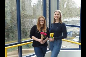 Winner Lucy Tate and runner up Amy Gillingham