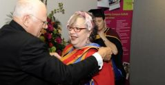 Comedian Jo Brand sends goodwill message to University of Suffolk health students