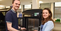 3D Printing  Launch. Tom Ranson and Jasmin Taylor