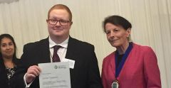 Student receives top award from the Royal Society of Biology