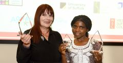 Suffolk Adult Learners Awards 2019 Deborah Williams and Seraphine Twibanire- University of Suffolk