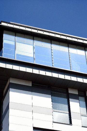 External shot of top floor, James Hehir Building, Waterfront Campus